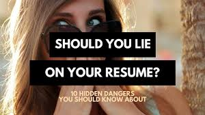 is it worth lying on your resume 10 hidden dangers career sidekick when you lied on your resume but you still get the job album
