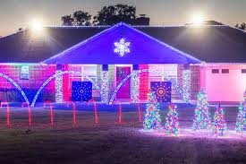 family spends hours creating light show victoria advocate
