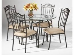Iron Base Dining Table Round Glass Iron Dining Table