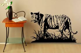 home interior tiger picture wall decal tiger vermin vinyl sticker predator animals