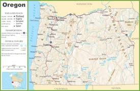 map of oregon state oregon state maps usa maps of oregon or