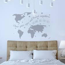 World Map Wall Decal Wall Sticker World Map U0027dreams U0027