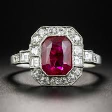 gemstone wedding rings unique vintage gemstone engagement rings lang antiques