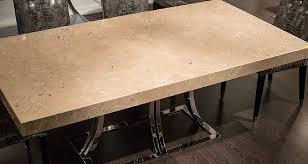 Travertine Dining Table Stone International Aurora Steel Dining Table
