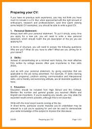 Previous Work Experience Resume Sample Personal Statement For Resume Sample With Gap Year Personal