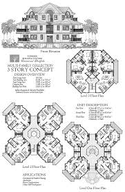 Multi Family Homes Plans Commercial Collection Comm Multi Family Residence 3 Story 10 Units