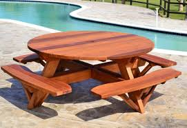 Cedar Patio Table Table Outdoor Table Plans Amazing Picnic Table Designs Build A