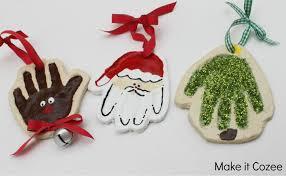 ornaments handprint ornaments print or