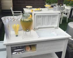 Patio Buffet Table Rustic Cooler Table Shipped Or Free Pick Up By Rusticwoodworx