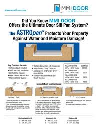Patio Door Sill Pan Marketing Material Mmi Door
