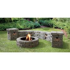 Fire Pit Block Kit Shop Allen Roth Allegheny Flagstone Fire Pit Patio Block Project