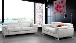 canapé cuir blanc 3 places canapé 3 2 places cuir blanc salon pas cher