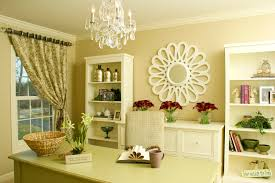 Decorating A Credenza Faux Floral Arrangements In Home Office Contemporary With Ikea