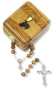 First Communion Jewelry Box Olive Wood First Communion Rosary With Gift Box
