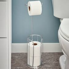 unique free standing toilet paper holder free standing toilet paper holders you ll love wayfair