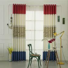 beige and orange patterned cute curtains for kids