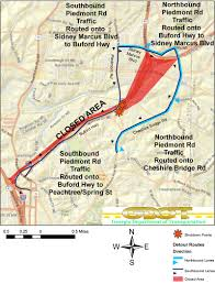 Map Of Atlanta Ga Navigating Atlanta U2014 And What Was Under That Collapsed Portion Of