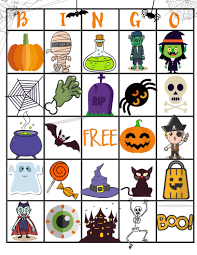 halloween bingo game personal creations blog halloween themed