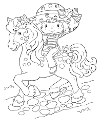 free printable strawberry shortcake coloring pages kids