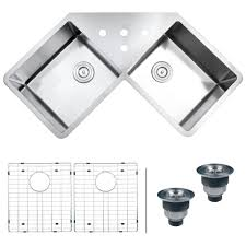 Corner Sink Cabinet Kitchen Kitchen Triple Basin Stainless Steel Kitchen Sink Luminous