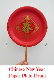 chinese new year paper plate drum drums craft and activities