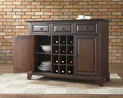 black sideboard with glass doors dining room hutch with wine rack