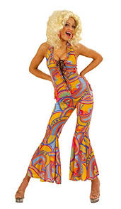hippie jumpsuit 70s funky jumpsuit costume large for 1970 s disco hippy