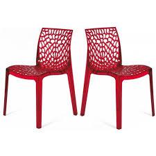 chaises plexiglass lot de 2 chaises transparentes gruyer achat vente chaise