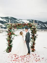 Wedding Archway 30 Winter Wedding Arches And Altars To Get Inspired Weddingomania