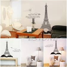 Eiffel Tower Home Decor Accessories Paris Eiffel Tower Art Decal Mural Removable Diy Home Bedroom Wall