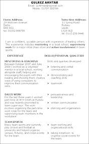 Resume Examples For Someone With No Experience by Cvs And Applications