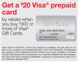 metabank prepaid cards sneak peek staples 20 visa prepaid card when you buy 300 or