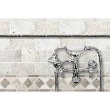 shop noce and chiaro travertine natural stone mosaic listello tile