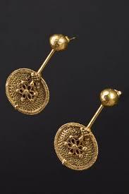 kerala earrings earrings kerala south india end 1800 gold ethnic jewels 0936