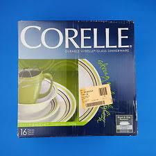 corelle banded dinner service sets ebay