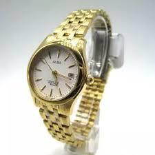 Jam Tangan Alba Putih alba jam tangan wanita gold putih stainless steel axt844x1