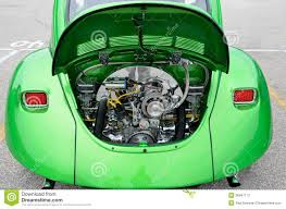 file 1972 yellow vw beetle restored volkswagen beetle engine editorial stock photo image
