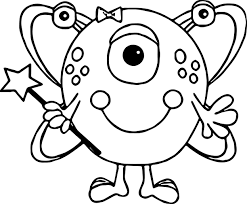 cute alien coloring page wecoloringpage