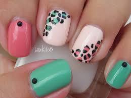 nail art easy and girly leopard nails decoracion de uñas