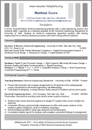 fire chief resume chief electrician cover letter download