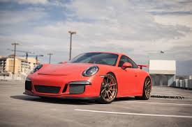 red porsche 911 matte red porsche 911 gt3 on deep concave rims by adv 1 u2014 carid