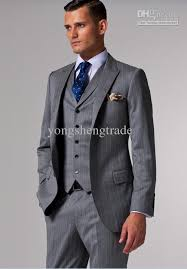 mens light gray 3 piece suit brand suits accept custom made suits light gray black pinstripes