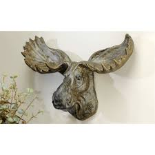 decorating moose head wall decor by k and k for home decoration idea