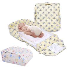 new portable infant baby child kid travel cot playpen folding bed