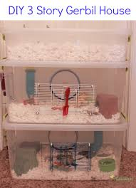 how to diy three story gerbil cage also good for hamsters made