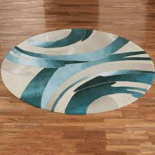 Modern Circular Rugs Rugs Curtains Modern Ivory And Teal Abstract Rug For