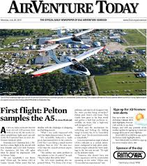 eaa airventure today monday july 20 2015 by eaa experimental