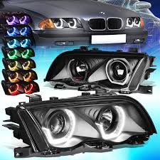 bmw headlights 3 series for 99 01 bmw e46 3 series black led 3d rgb color change angel