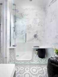 bathroom walk in bathtub shower combo ideas with contemporary bath