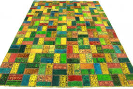 Red Blue Rug Patchwork Rug Orange Red Blue Yellow In 290x200cm 1001 1883 Buy